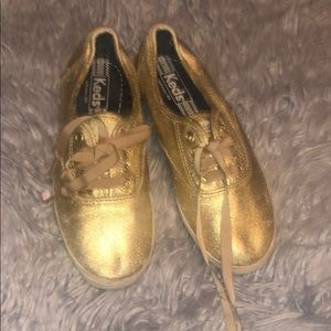 Keds Shoes - Gold low top KEDS shoes
